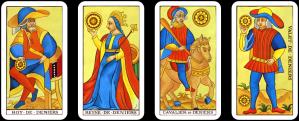 Tarot Coin Court Cards